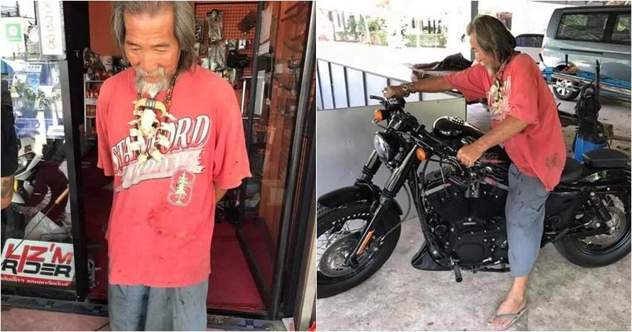 Penampilannya lusuh, pria tua ini dicuekin saat beli Harley Davidson
