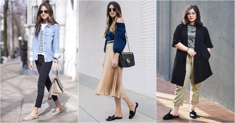 Biar makin stylish, ini 10 inspirasi gaya sandal mule yang bisa ditiru