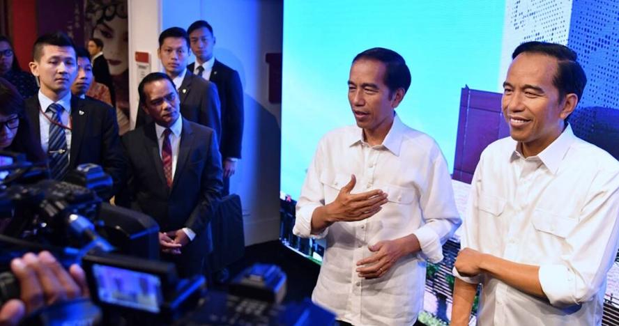 9 Potret momen Jokowi ketemu 'kembarannya' di Museum Madame Tussauds
