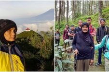Kenalin nenek Yuni, di usia 65 tahun sukses taklukkan 9 puncak gunung