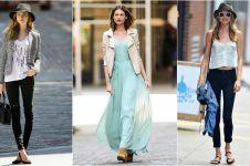 10 Gaya simpel ala Behati Prinsloo, si model cantik istri Adam Levine