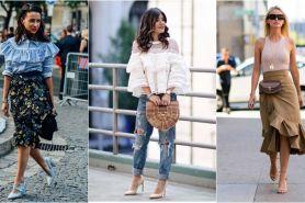 12 Mix & match pakaian ruffle, bikin tampilan tampak anggun & dramatis