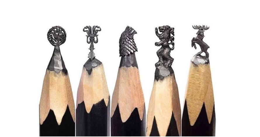 11 Patung tema Game of Thrones ini dibikin di ujung pensil, amazing!