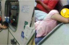 Potret bocah duduk di kereta MRT ini bikin bulu kuduk merinding