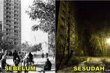 15 Foto mencekamnya suasana di 'kota mati' setelah tragedi Chernobyl