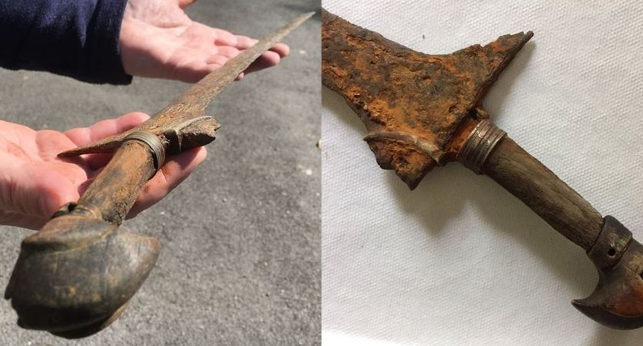 Keris ini ditemukan di sungai di Wales, kisahnya sulit dipercaya