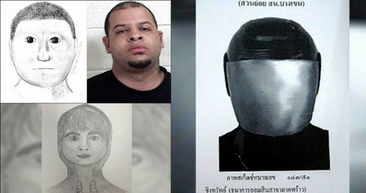 15 Sketsa wajah buronan ini gambarnya paling lucu, asli bikin ngakak