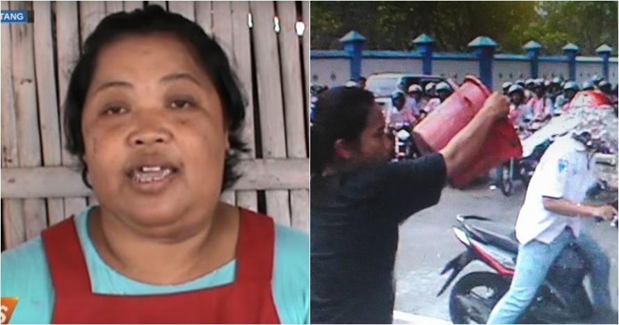 Ini sosok Widarti, emak-emak yang bubarkan konvoi pelajar pakai ember