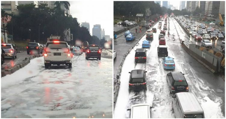 Ini penjelasan kenapa bisa ada 'salju' di Jakarta