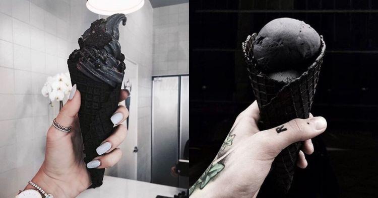 Es krim hitam pekat dari arang yang lagi hits, udah coba belum nih?