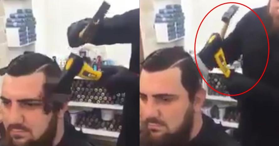 Ekstrem banget, tukang cukur ini potong rambut pelanggan pakai kapak