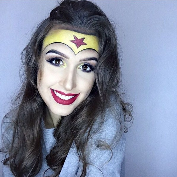 makeup Wonder Woman © 2017 popsugar.com