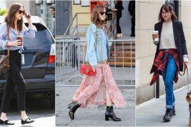 10 Street style ala Dakota Johnson, tampil simpel dan effortless chic
