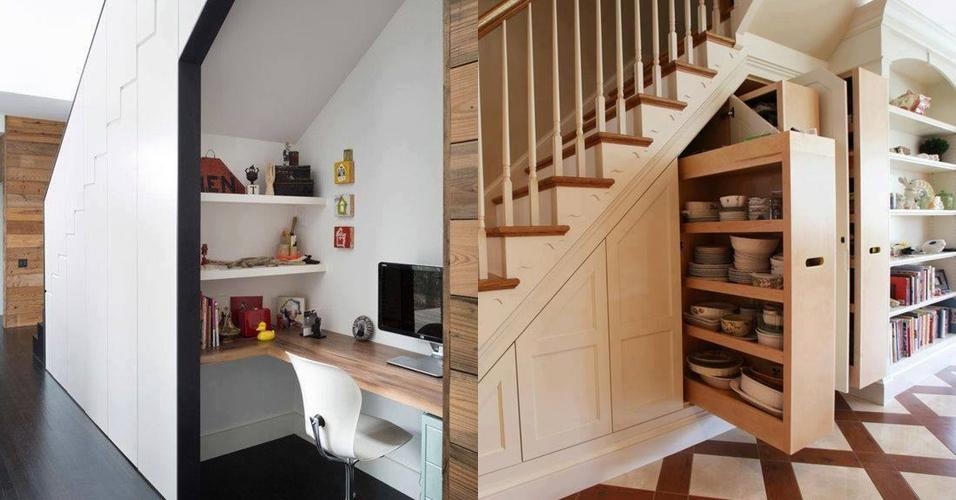 12 Ide kreatif manfaatkan area kosong bawah tangga, leh uga nih