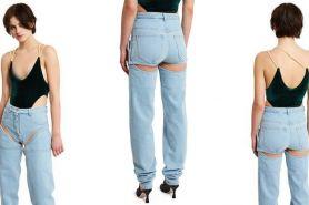 Terlihat bolong, celana jeans lepas ini ternyata harganya fantastis