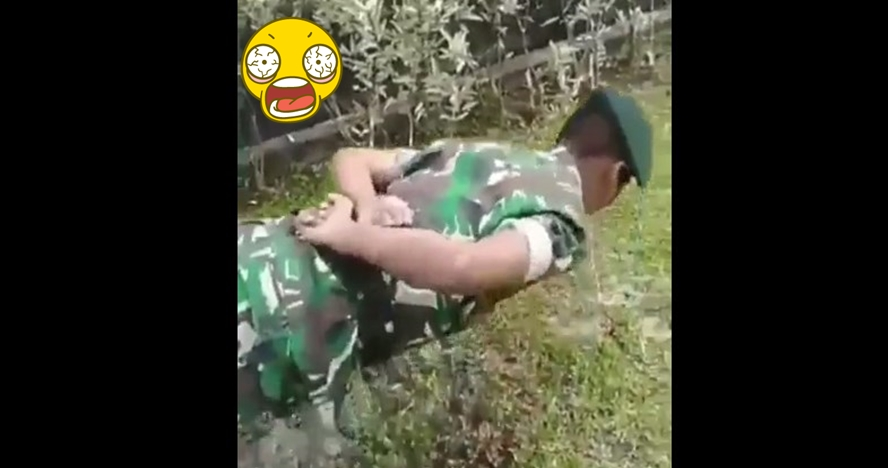 Tentara ini jago push up tanpa tangan, triknya tak terduga