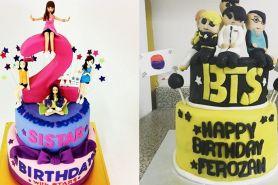 10 Kue tart bertema idol K-Pop ini unik, jadi nggak tega makannya