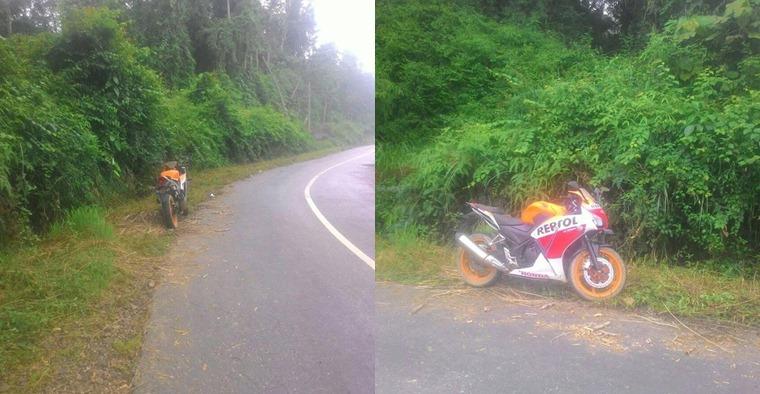 Misteri motor di lokasi sepi yang konon berhantu