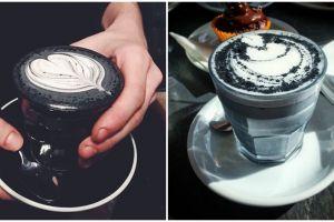 Sajian 10 minuman kopi pakai latte dari arang, tampilannya gotik