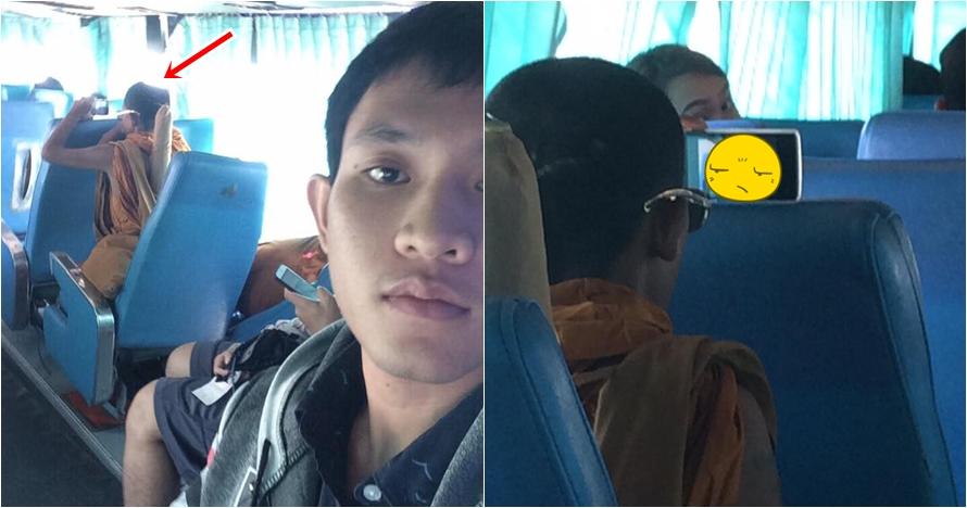 Video yang ditonton pria ini bikin penumpang bus kaget