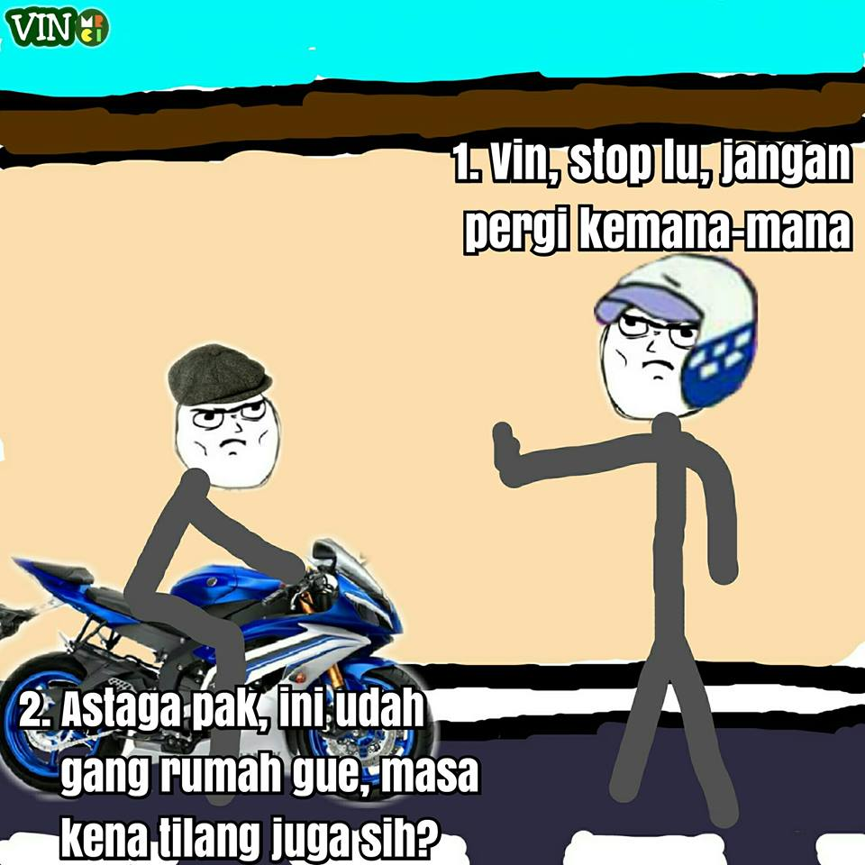 Komik Otong dan Polantas di gang kecil ini lucu keban an