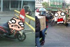 3 Foto tipikal pengendara Indonesia suka nerobos, nggak sayang nyawa?