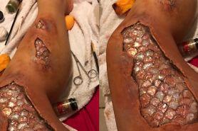 Makeup bak kaki putri duyung ini bikin merinding disko