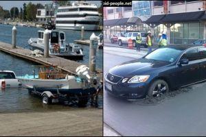 10 Foto mobil di tempat yang mengejutkan, mau ketawa tapi kasihan