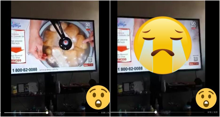 Live demo masak di televisi, panci malah meleduk
