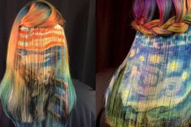 Hair painting, tren pewarnaan rambut layaknya lukisan karya maestro