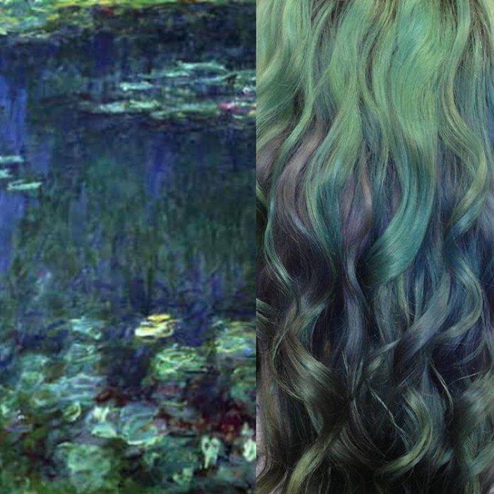 hair painting  © 2017 Instagram