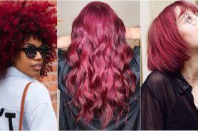 10 Inspirasi burgundy hair, tren pewarnaan ini cocok untuk semua kulit
