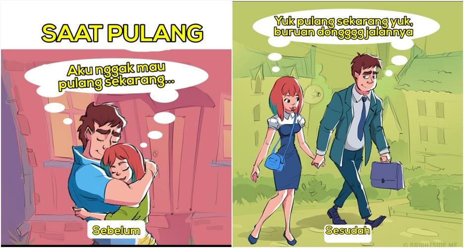 5 Ilustrasi perubahan setelah hubungan kamu sah! beda banget lho