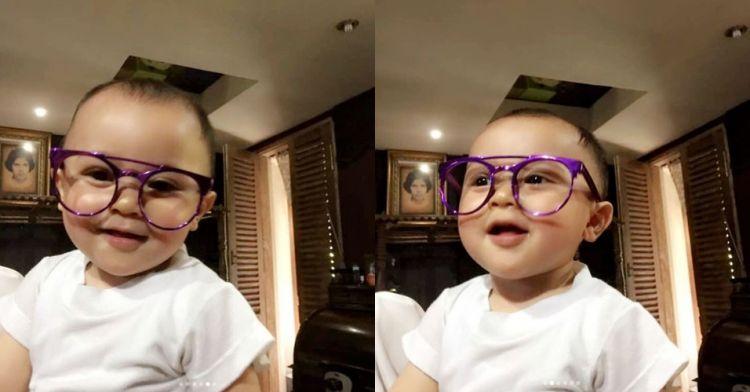 7 Potret lucunya Baby R, anak Mulan Jameela yang baru berusia 1 tahun