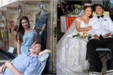 Cinta bukan soal fisik, wanita ini nikah dengan pacarnya yang lumpuh