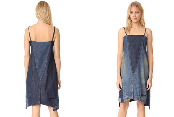 Dress ini terkesan pakai celana jeans terbalik, tapi harganya ngagetin