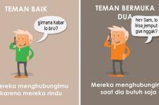10 Ilustrasi beda teman baik vs bermuka dua, ngena banget