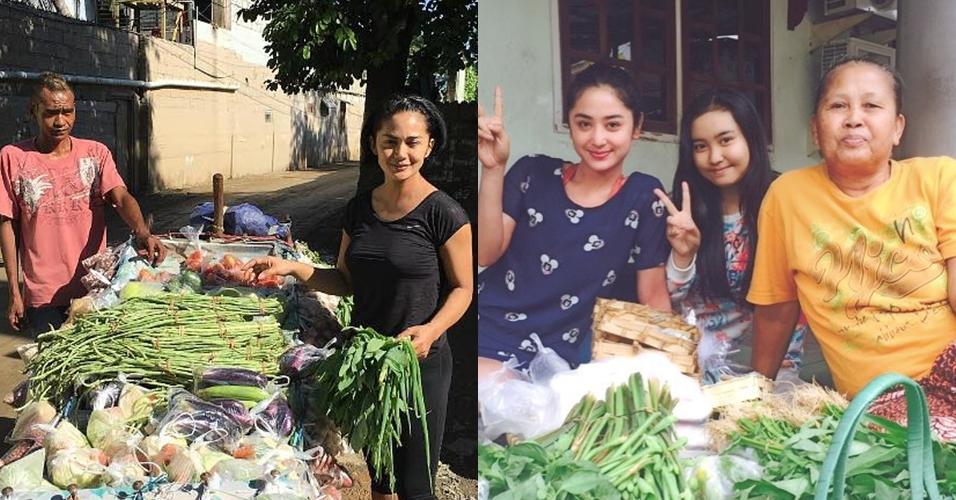 Ibu rumah tangga idaman, 7 artis ini tak segan belanja sayuran sendiri