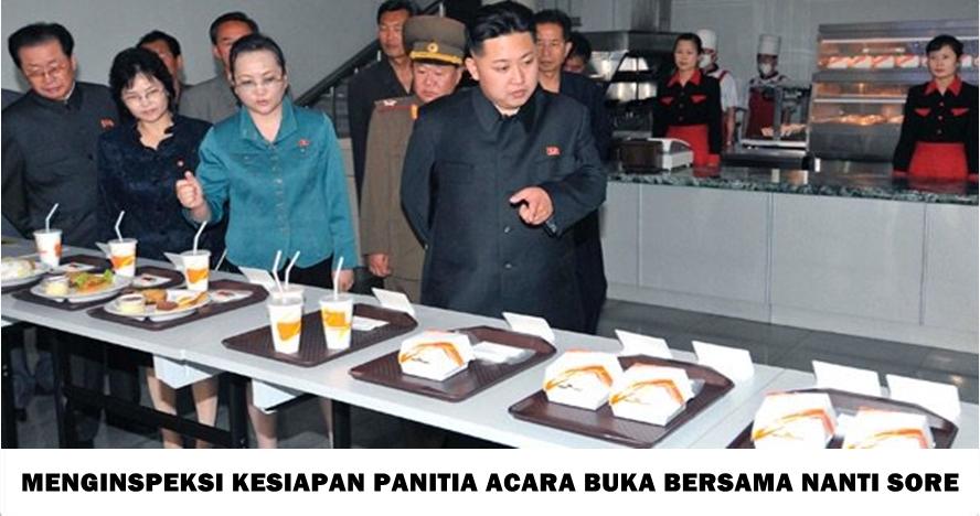 15 Foto jika Kim Jong un ikut memantau Ramadan bikin ngakak