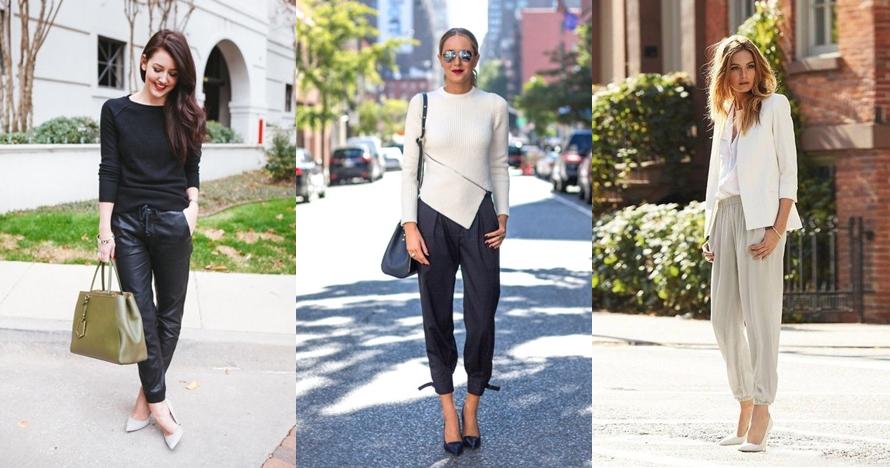 10 Padu padan celana jogger ini bikin tampilanmu makin chic dan trendi