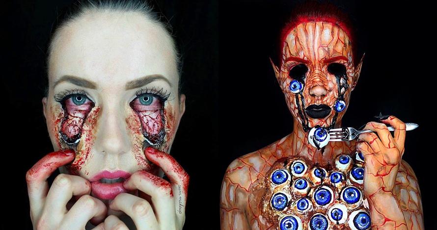 8 Hasil makeup karya wanita ini bikin ngilu sekaligus kagum, kok bisa?