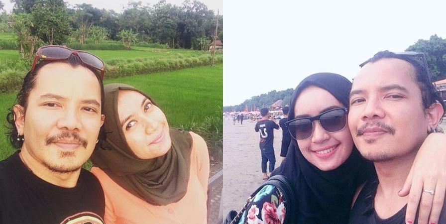 10 Potret romantis Cella Kotak dan istri yang kini tinggal di Jogja