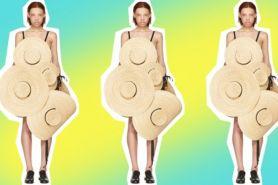 Dress unik dari topi jerami ini ternyata harganya puluhan juta rupiah