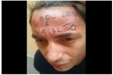 Maling ini tertangkap tukang tato, jidatnya ditulisi kalimat memalukan