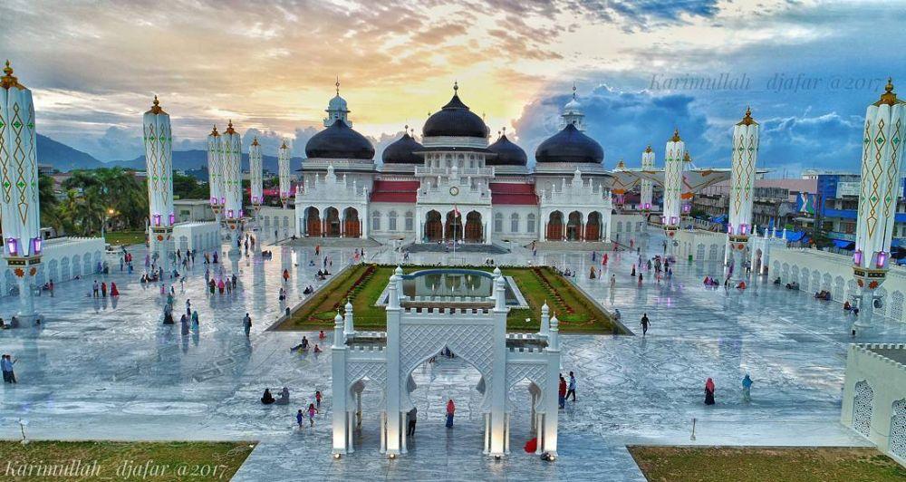 11 Foto Transformasi Masjid Baiturrahman Aceh Mirip Masjid Nabaw