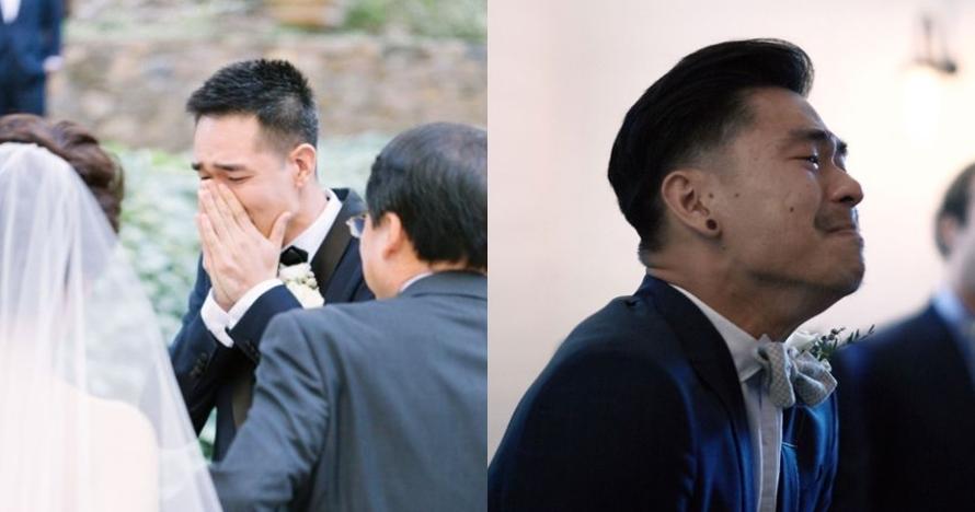 Potret 10 pengantin pria saat lihat calon istrinya ini bikin haru
