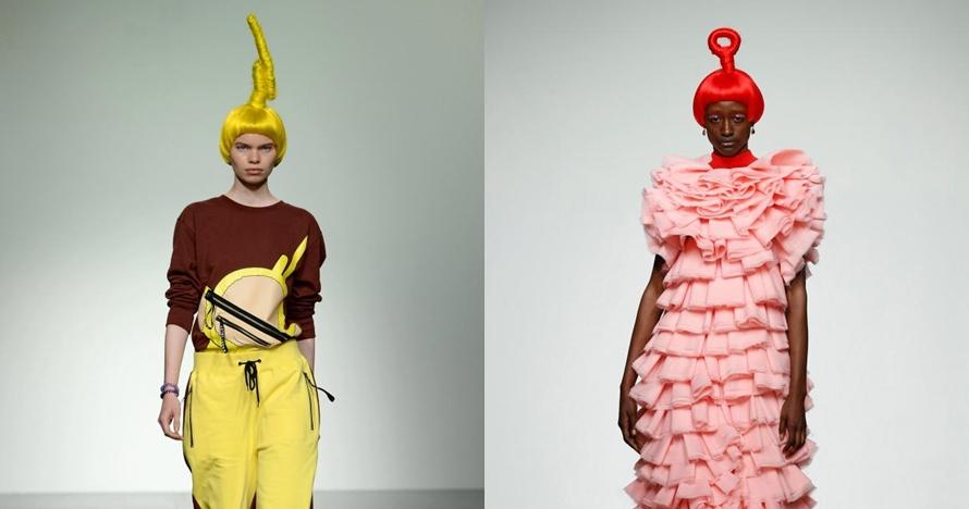 Desainer ini rancang busana terinspirasi dari Teletubbies, unik deh