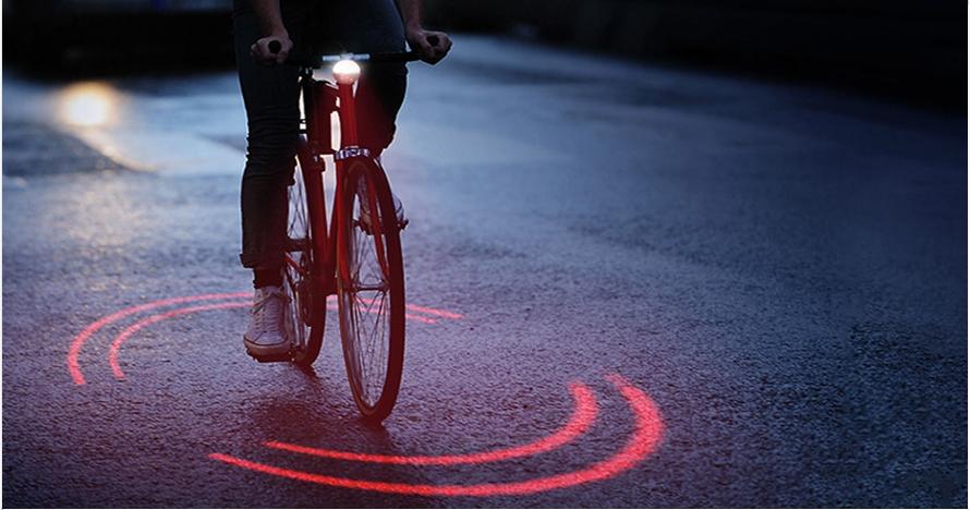 Sepeda ini dilengkapi sinar anti kecelakaan, begini cara kerjanya