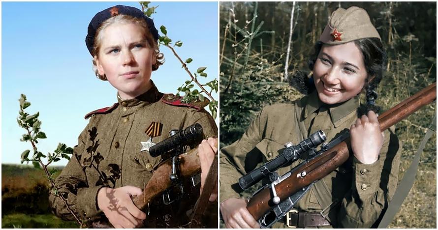 7 Sniper wanita di PD II, cantik tapi sanggup bunuh ratusan orang