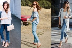 10 Mix & match frayed jeans, tren celana yang bikin tampilan kece abis